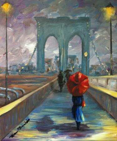 """""""New York, le pont de brooklyn entre chien et loup...."""""""