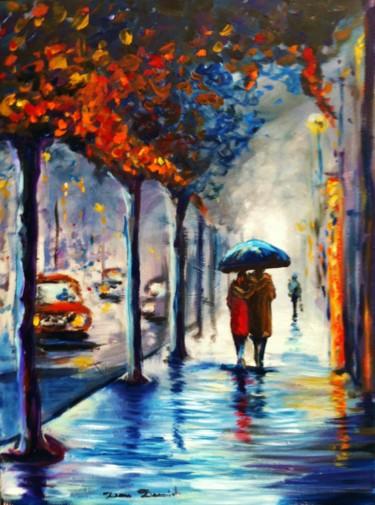 Paris, jour de pluie sur les grands boulevards par Dam Domido