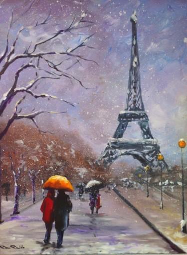 Paris, Champs de Mars sous la neige...par Dam Domido