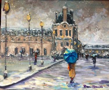 Paris, neige aux Tuilerie