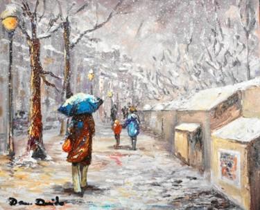 Paris, neige, les quais de la Mégisserie un dimanche en février