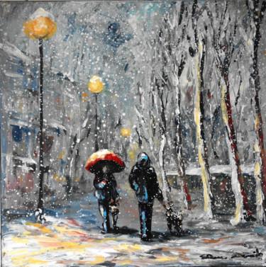 """""""Paris, neige sur les quais, dernière promenade de la journée"""""""
